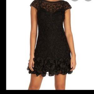 NWOT Guess black floral lace dress